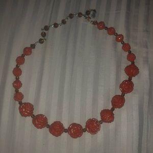 Tarina Tarantino carved rose necklace dusty rose